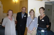 FromL: Sarah Ardizzone, Vineet Lal, Anna Holmwood, Nicky Harman at the Translators Assocation offices